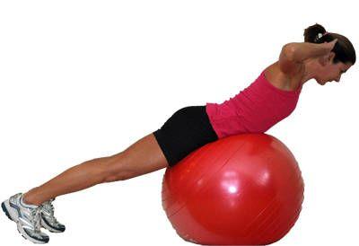 core oefeningen fitness bal 5