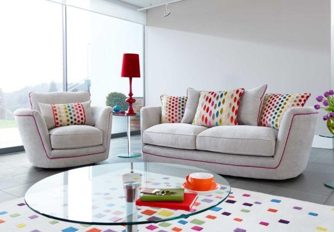 3 seater scatter back sofa - Pop - Sofa Sets | Corner Sofas | Leather Sofas - Furniture Village