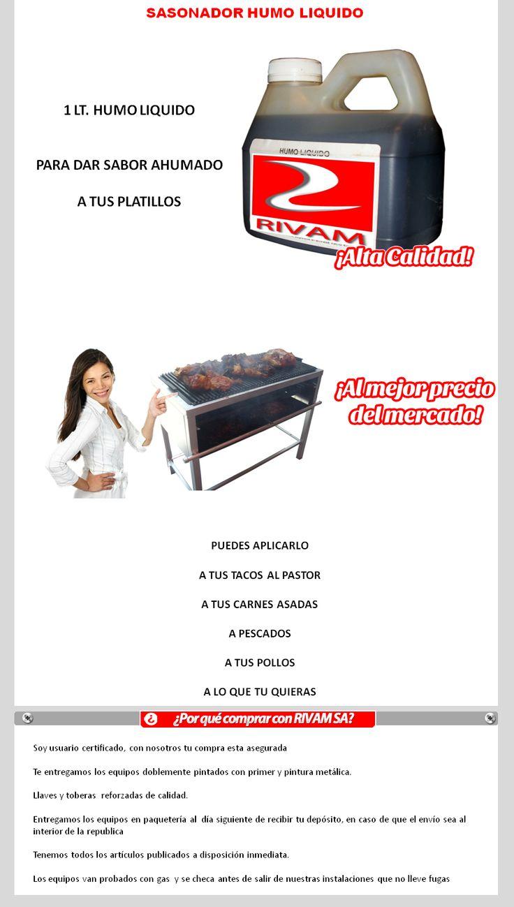 Sasonador Humo Liquido Para Dar Sabor Ahumado A Carne - $ 139.00 en MercadoLibre