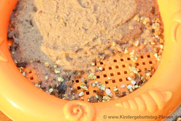 Kindergeburtstagsspiele - Goldwäsche für Kinder : Ganz einfach im Garten eine Goldsuche veranstalten. Toll für Schatzsuche, Cowboy-Geburtstag usw.