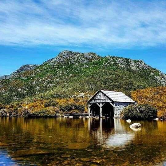 The boat shed on Dove Lake, Cradle Mountain, Tasmania, Australia