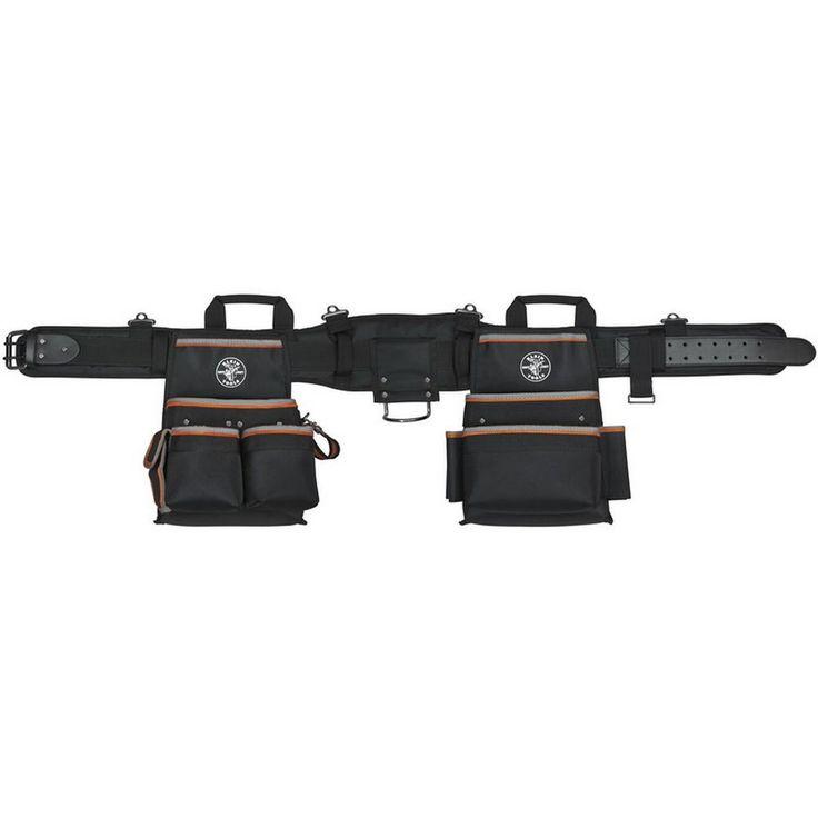 Klein Tools Tradesman Pro Black Nylon Electrician's Padded Tool Belt #KleinTools