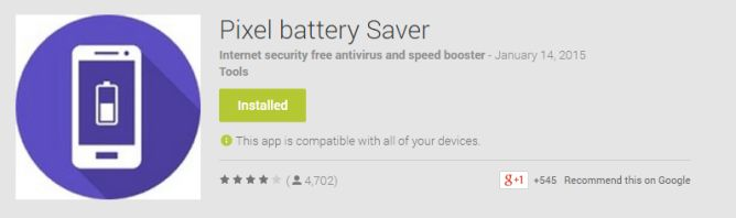 Pixel Battery Saver App Sold To A Shady Third-Party That Wants To Make It A Crappy (Possibly Fake) Antivirus App - http://www.androidpolice.com/wp-content/uploads/2015/01/nexus2cee_2015-01-14-11_26_57-Pixel-battery-Saver-Android-Apps-on-Google-Play1-668x198.png https://askmeboy.com/pixel-battery-saver-app-sold-to-a-shady-third-party-that-wants-to-make-it-a-crappy-possibly-fake-antivirus-app/