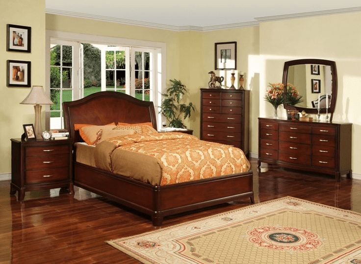 cherry wood furniture is known for its elegant craft and its glamour looks the color - Brown And Orange Bedroom Ideas