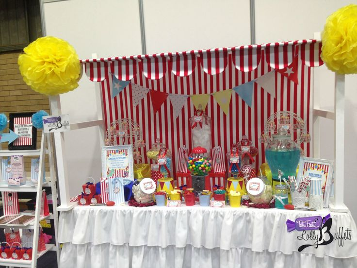 Colourful Circus Candy Buffet