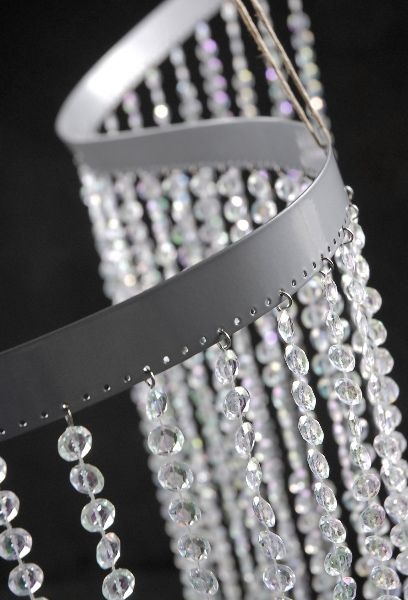 """Bendable Flexible  Crystal Curtains  35"""" wide x 9 feet with 34 strings $45"""
