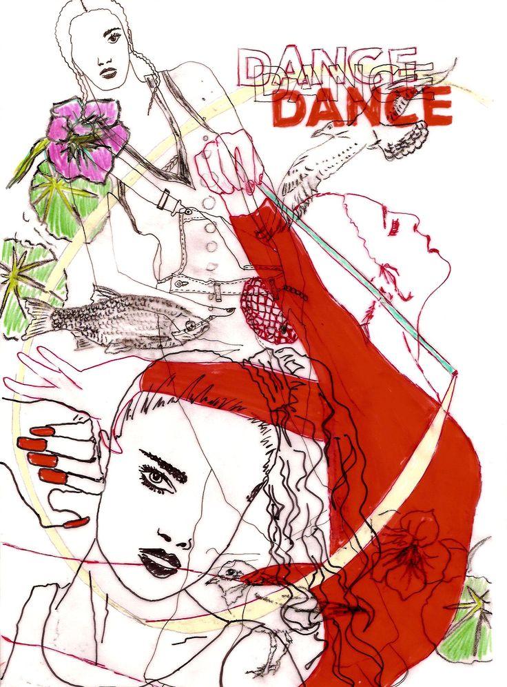 Dance Dance Dance #illustration  #delastella