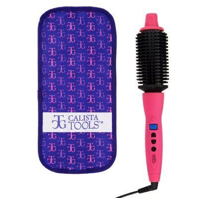 """(Product review for Perfecter Pro Grip Heated Round Brush & Bag (1.5"""", Pink)). A professional-quality heated round brush designed to give you beautiful, """"just back from the salon"""" style. Use it to smooth, direct, lift, volumize, and curl hair like a pro! Maria McCool created the Perfecter with Fusion Heat: ceramic and ionic technology combined to infuse hair with..."""