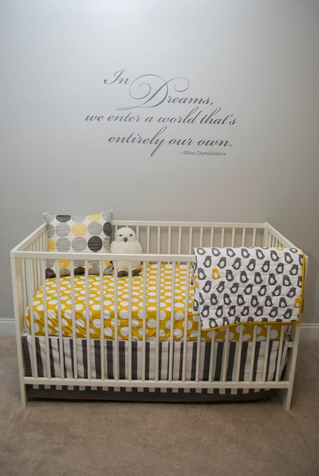25 best ideas about yellow baby rooms on pinterest gray yellow nursery babies nursery and - Harry potter crib set ...