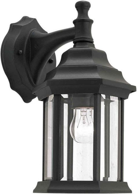 Forte lighting 1715 01 outdoor wall sconce from the exterior lighting collection black outdoor lighting