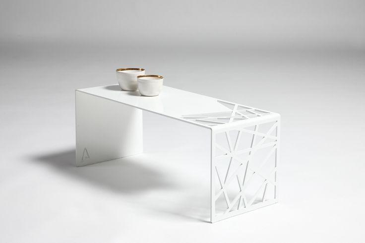 #steel coffee #table  #furniture #design #harrierdesign #white