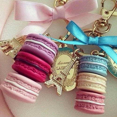 in LVE with my #Laduree keychains