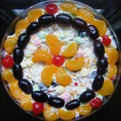 Ambrosia Fruit Salad Recipe | this ambrosia fruit salad with mandarin oranges recipe is very easy ...