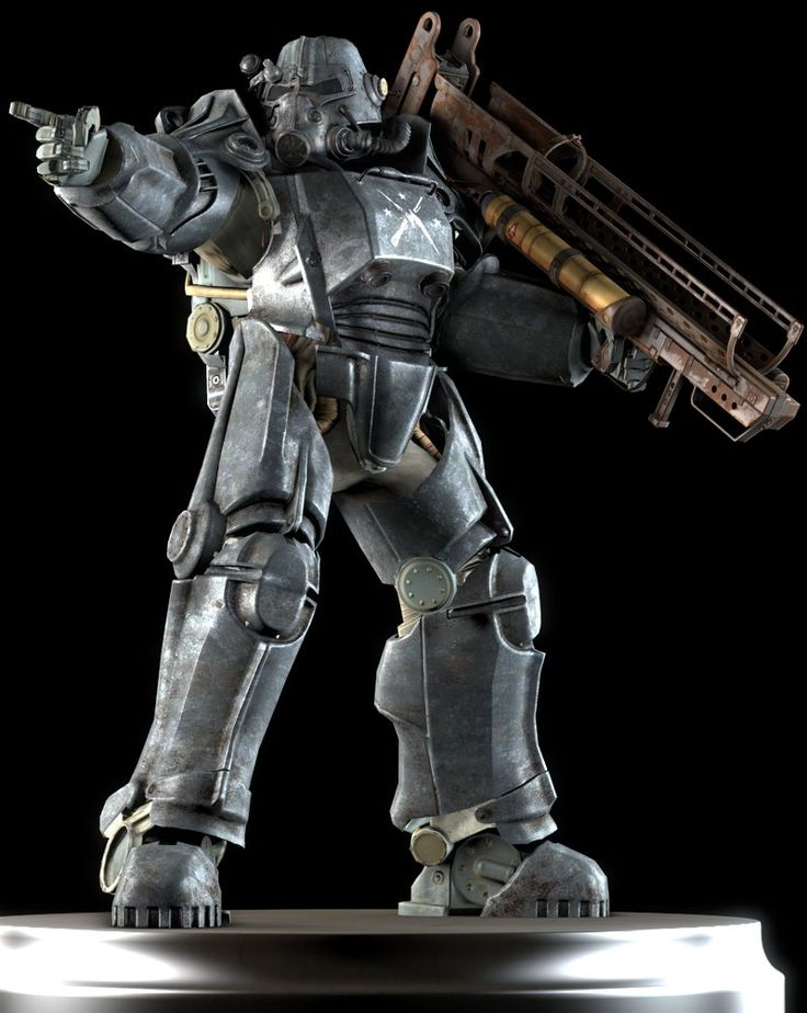 T-45 power armor is a power armor set in Fallout 4. It was originally developed and manufactured for the United States Army by American defense contractor West Tek. The T-45 power armor was the first version of power armor to be successfully deployed in battle.