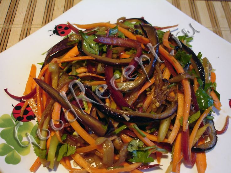 Салат из баклажан и болгарского перца на зиму