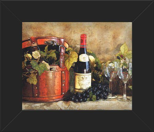 Kitchen Wall Plaques Of Wine And Grape Vines