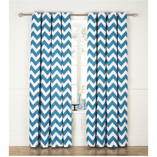 Chevron Printed Eyelet Curtains (u20ac21) ❤ Liked On Polyvore Featuring Home,  Home
