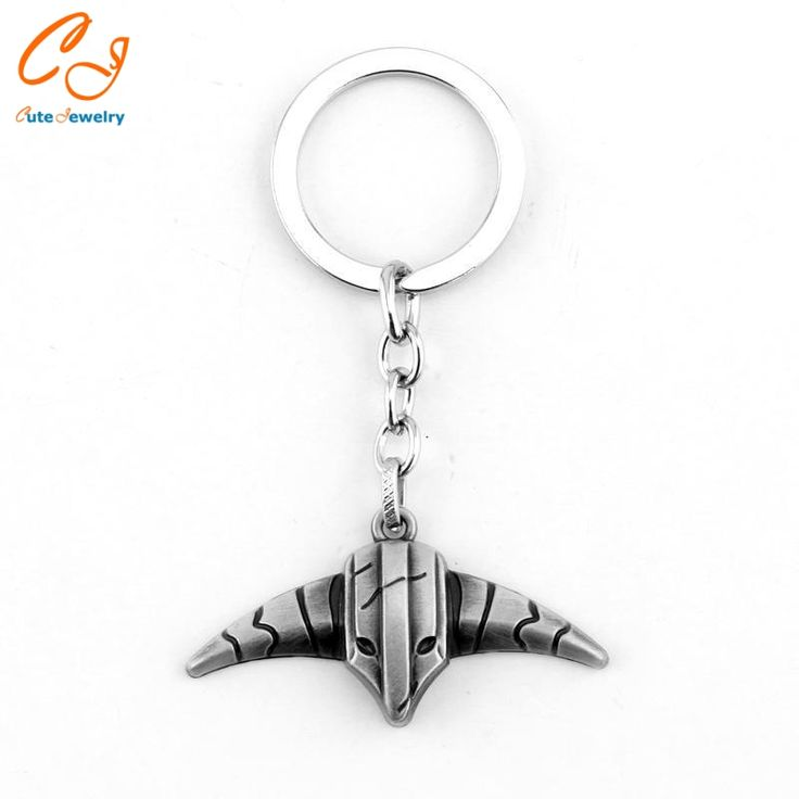 Fashion Hot Game Dota 2 Keychain Sheepshead metal Key chain ring Pendant jewelry Collection Good Gift For Men women