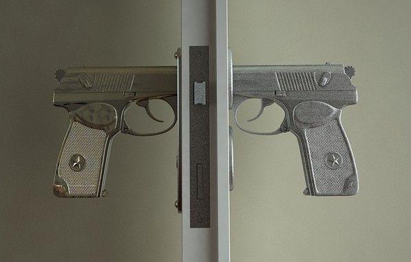 Bang Bang Gun Doorknob