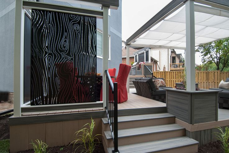 80 best privacy screens images on pinterest hgtv for Metal privacy screens for decks