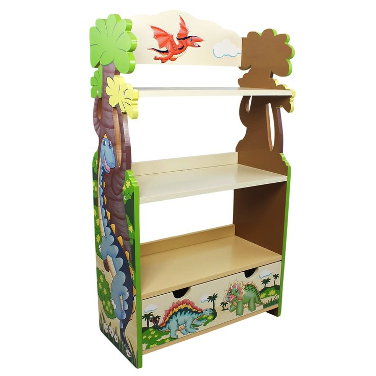 Delightful Turn Back The Pages Of Prehistoric Time, With Fantasy Fieldsu0027 Dinosaur  Bookcase! Three Sturdy, Tan Shelves Of Dino Indulgence, Non Toxic Paint,  Your Child ...