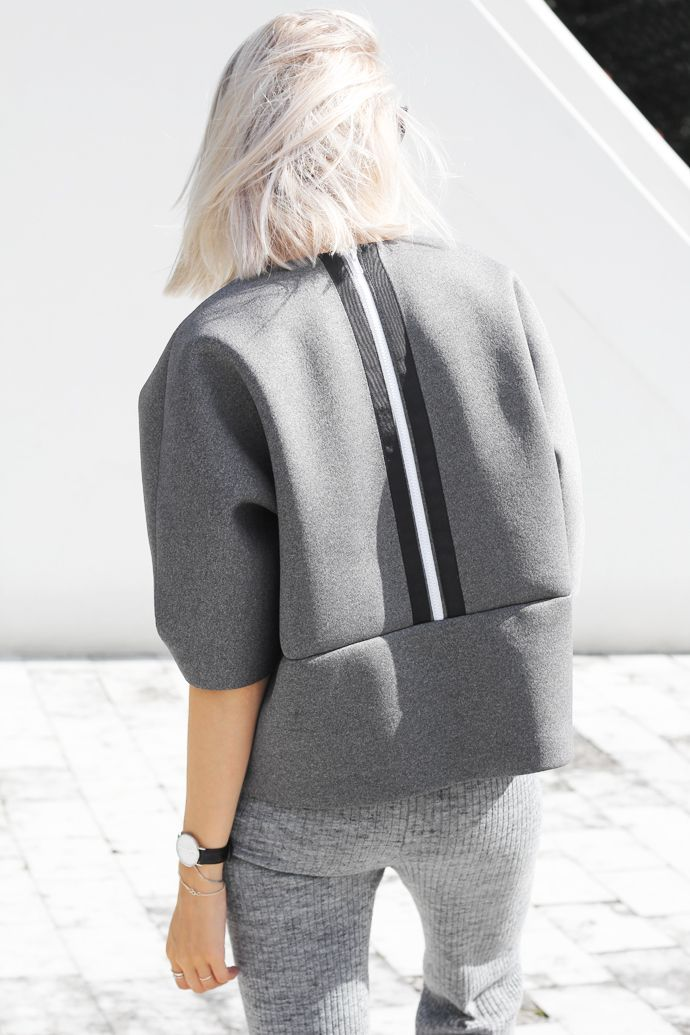 grey #neoprene #sweater #fashion #pixiemarket