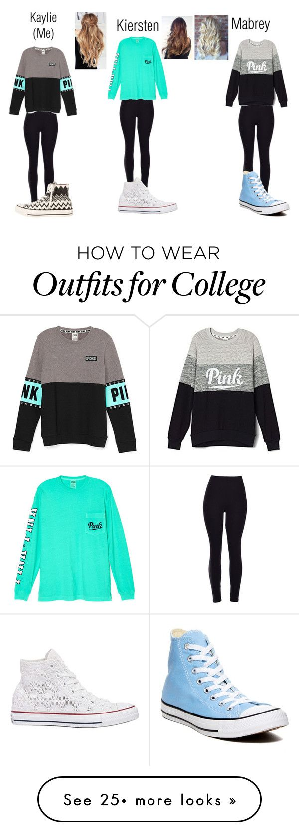 """(Read d)"" by karhoades-2 on Polyvore featuring Victoria's Secret, Converse, women's clothing, women, female, woman, misses and juniors"