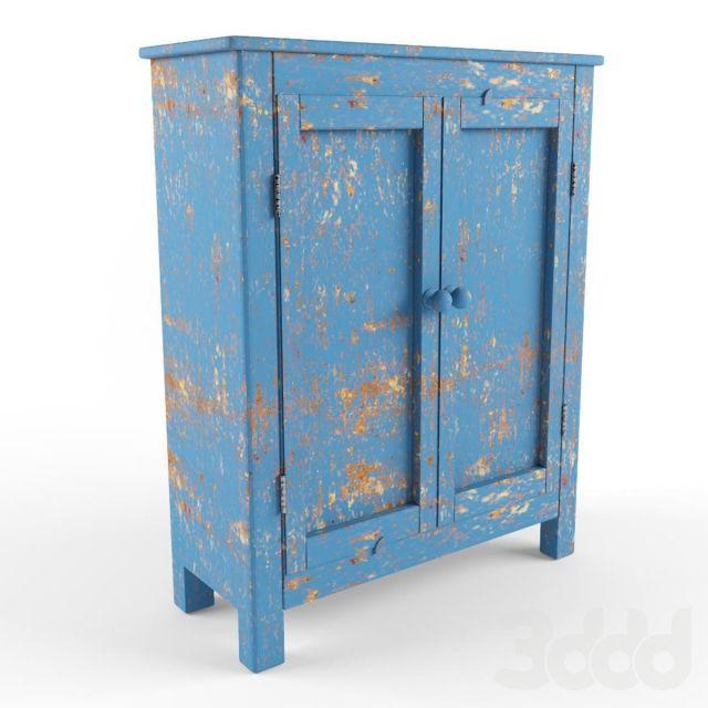 старинный синий комод