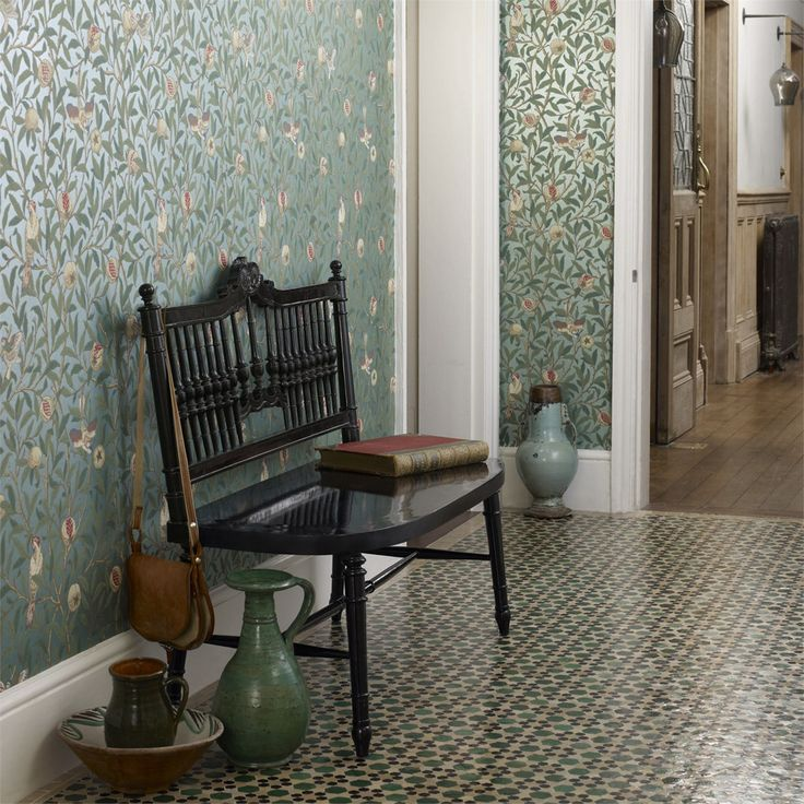 The Original Morris & Co - Arts and crafts, fabrics and wallpaper designs by William Morris & Company | Products | British/UK Fabrics and Wallpapers | Bird & Pomegranate (DARW212538) | Archive II Wallpapers