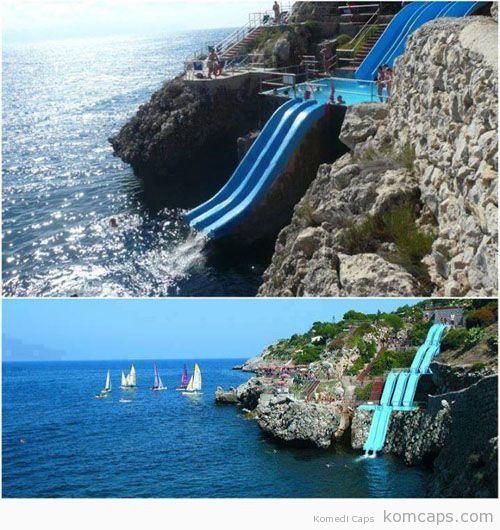 Dünyanın+en+güzel+su+kaydırağı,+Sicilya,+İtalya.