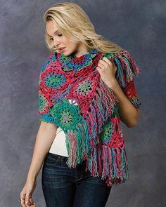 Best Free Crochet » Free Crochet Pattern Lorelei Shawl From RedHeart.com