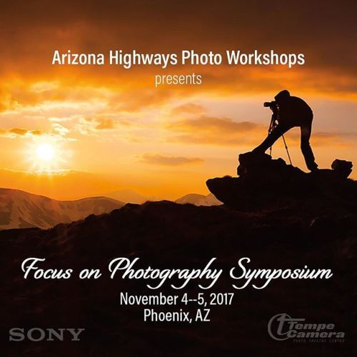 Your path to better photography begins here! Dont miss the 2017 Focus on Photography Symposium in Phoenix AZ featuring keynotes by NatGeo photographers Jim Richardson and Bill Hatcher! Includes 30 educational breakouts from 18 acclaimed photography presenters on focus stacking lighting landscape wildlife and more! Also professional portfolio reviews great raffle items and door prizes 2-day meal pass & VIP Reception! Link in bio at @azhighwaysphotoworkshops    #sp #ad…