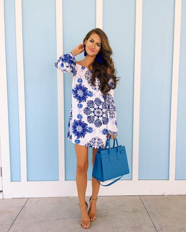 Cobalt blue dress summer