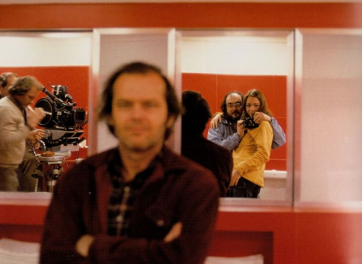 Kubrick sneaking a self shot while pretending to take one of Jack Nicholson #selfie