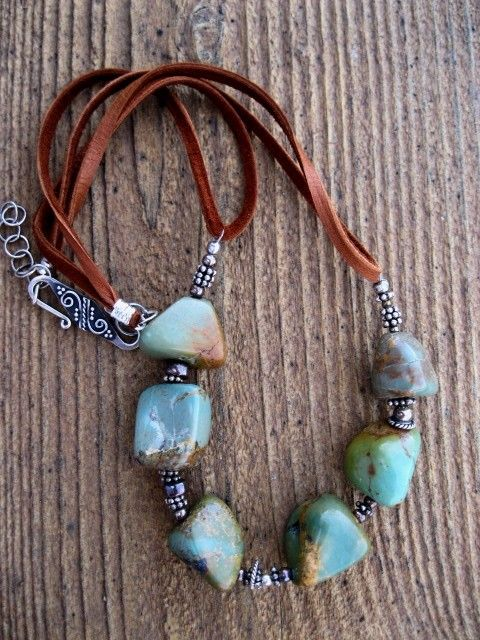Nice use of double suede cording.  I have some chunky gemstones this would work with