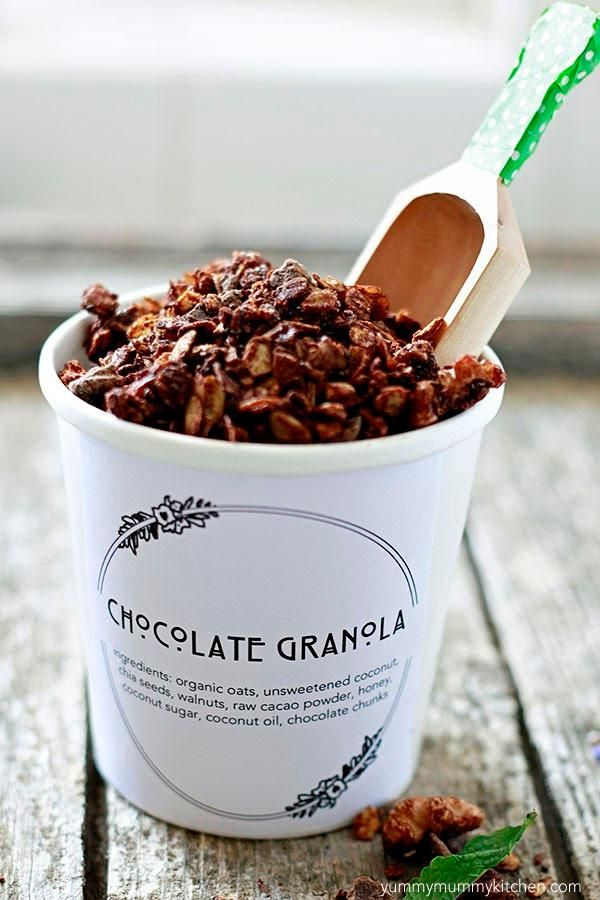Chocolate Granola. Always add chocolate.