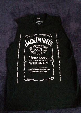 Kup mój przedmiot na #vintedpl http://www.vinted.pl/damska-odziez/bluzki-bez-rekawow/11609024-czarna-koszulka-z-logiem-jack-daniels