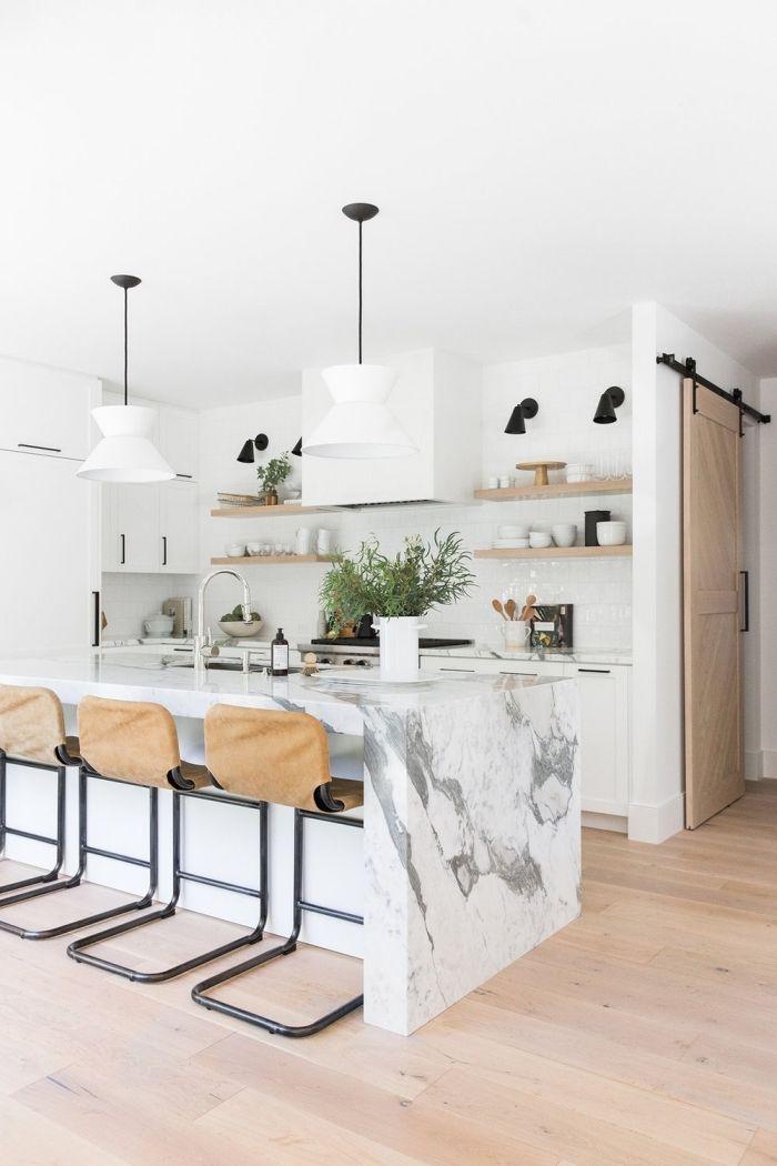 ▷ 1001 + modèle d\u0027implantation cuisine parfaite pour votre espace - Cuisine Moderne Avec Ilot Central