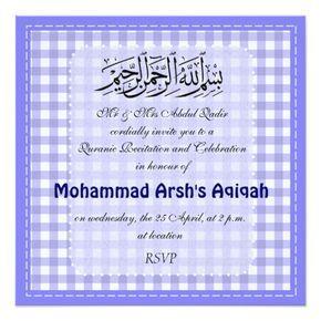Muslim Baby Boy Aqiqah Invitation Ideas For The House Pinterest