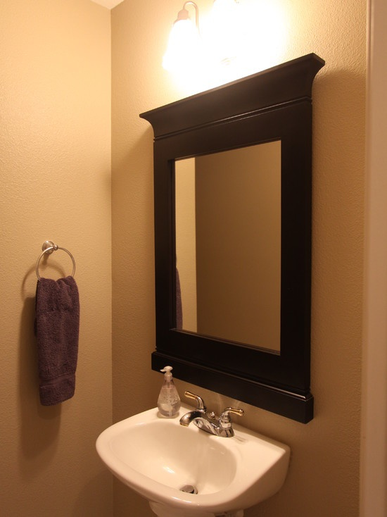 17 best images about decorative bathroom ideas on - Bathroom mirror ideas for single sink ...