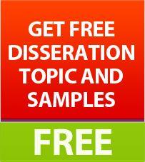 Free Dissertation Topics & Samples