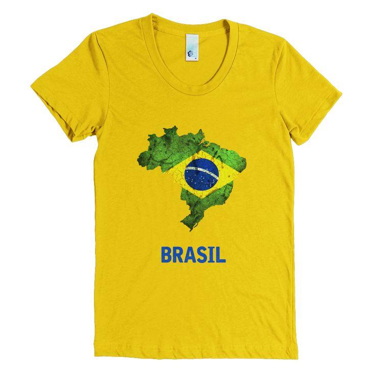 The brazil flag t shirt women brazil for Womens brazil t shirt
