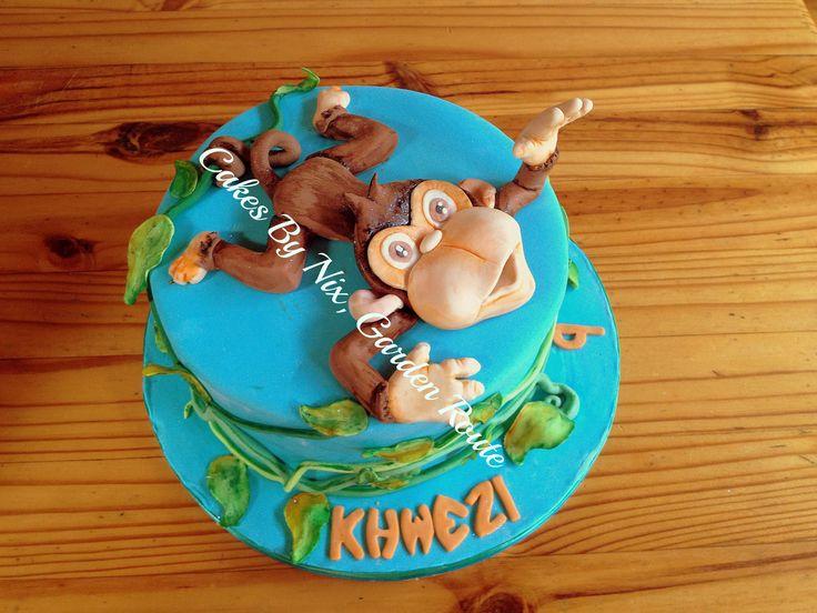 Swinging monkey cake