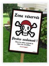 "Poster ""Pirates seulement"" à imprimer"