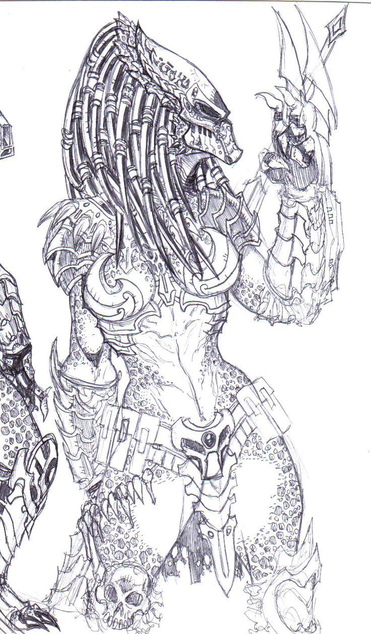 PREDADOR SKETCH FEMALE 2 by Predator