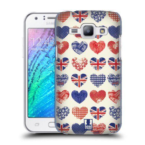 Pouzdro na mobil Samsung Galaxy J1 HEAD CASE BRITAN HEARTS