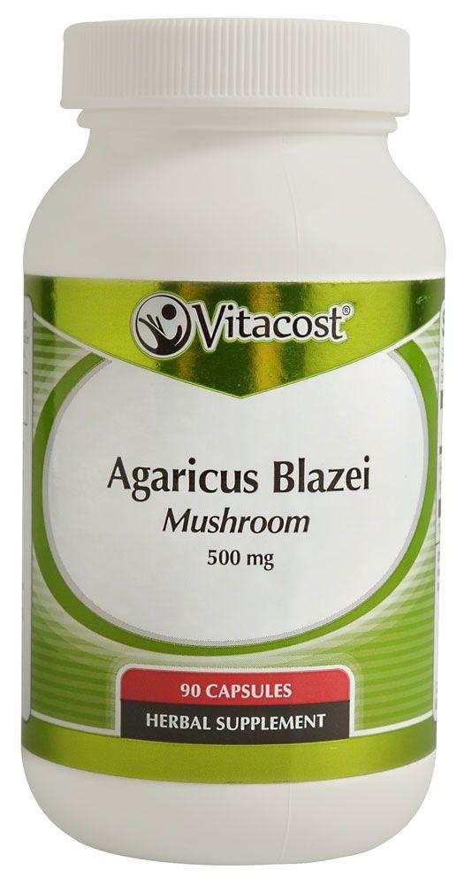 Vitacost Agaricus Blazei Mushroom -- 500 mg - 90 Capsules - Vitacost