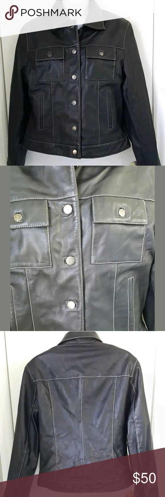 Ladies Peter Millar Dark Brown Leather Jacket Ladies Peter Millar Dark Brown Chocolate Leather Red Lining Jacket Medium  Excellent shape. Peter Millar Jackets & Coats Utility Jackets