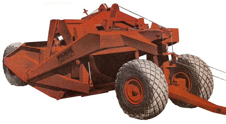 Quite a beast of a scraper, this is a Wooldridge model TC-142 rated at 17½ cubic yards. Wooldridge's 'Terra-Clippers' were not common in New Zealand