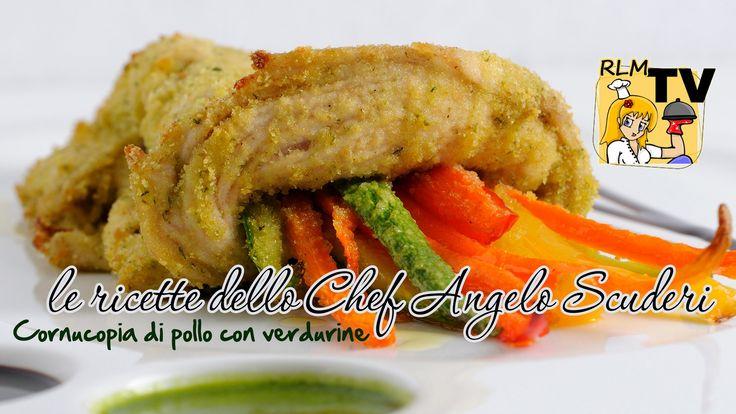 Angelo Scuderi, lo chef di Ricette Last Minute, insegna come realizzare facilmente un secondo leggero e d'effetto che affascinerà i più piccoli e stupirà gli ospiti. Cornucopia di petto di pollo con verdurine, ingredienti semplici, tanta fantasia!